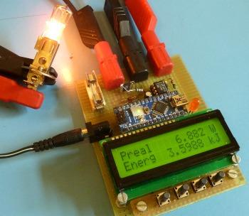 Arduino wattmeter :: Electronic Measurements