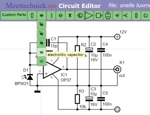 Circuit Editor users guide :: Electronic Measurements